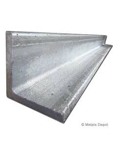 "2"" x 4"" Pre-Galvanized Angle x 20' Specialty Metal American"